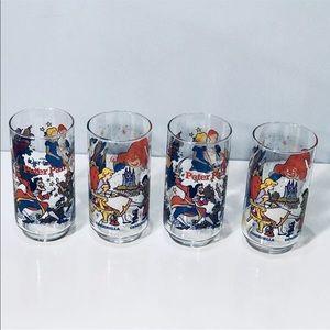Disney McDonald's Petter Pan Cinderella Glasses